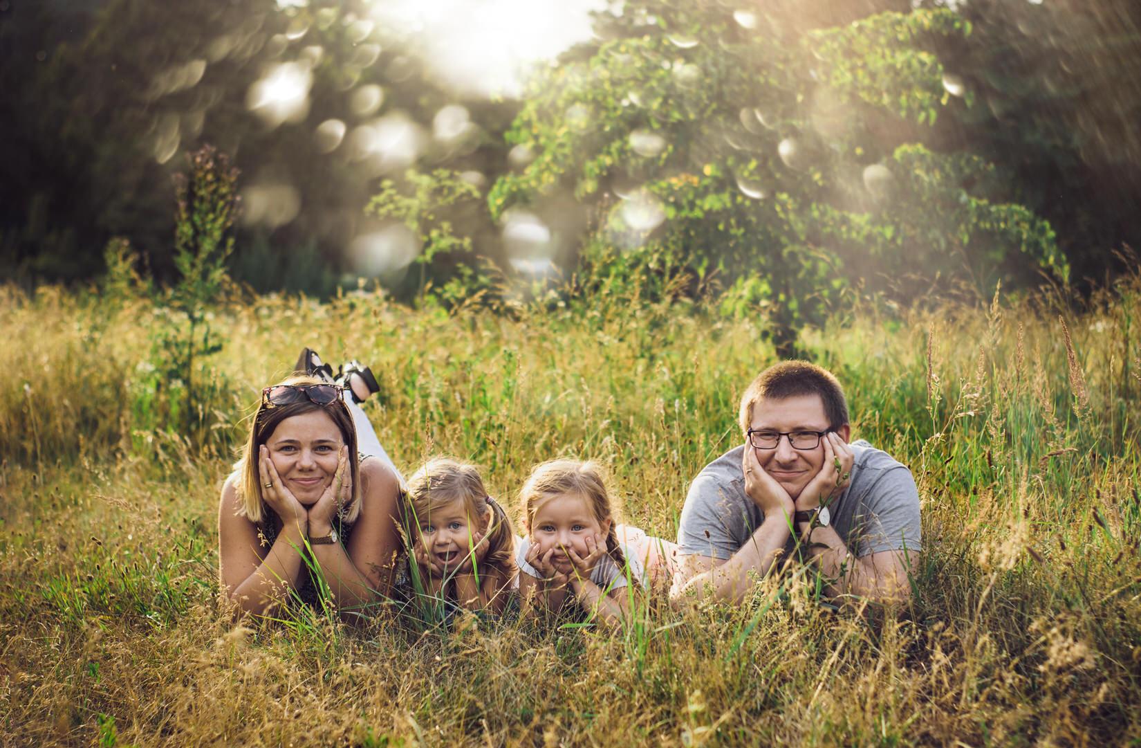 Sesja rodzinna: Agnieszka & Jarek z dziećmi