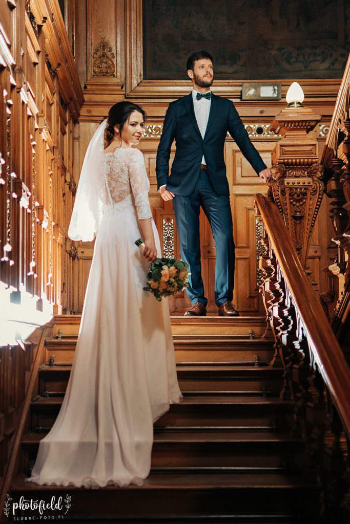 sesja ślubna pałac Panna Młoda
