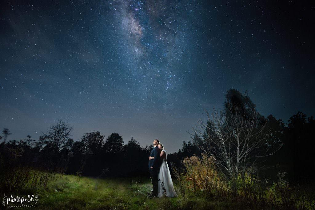 sesja ślubna pod gwiazdami astrofotografia