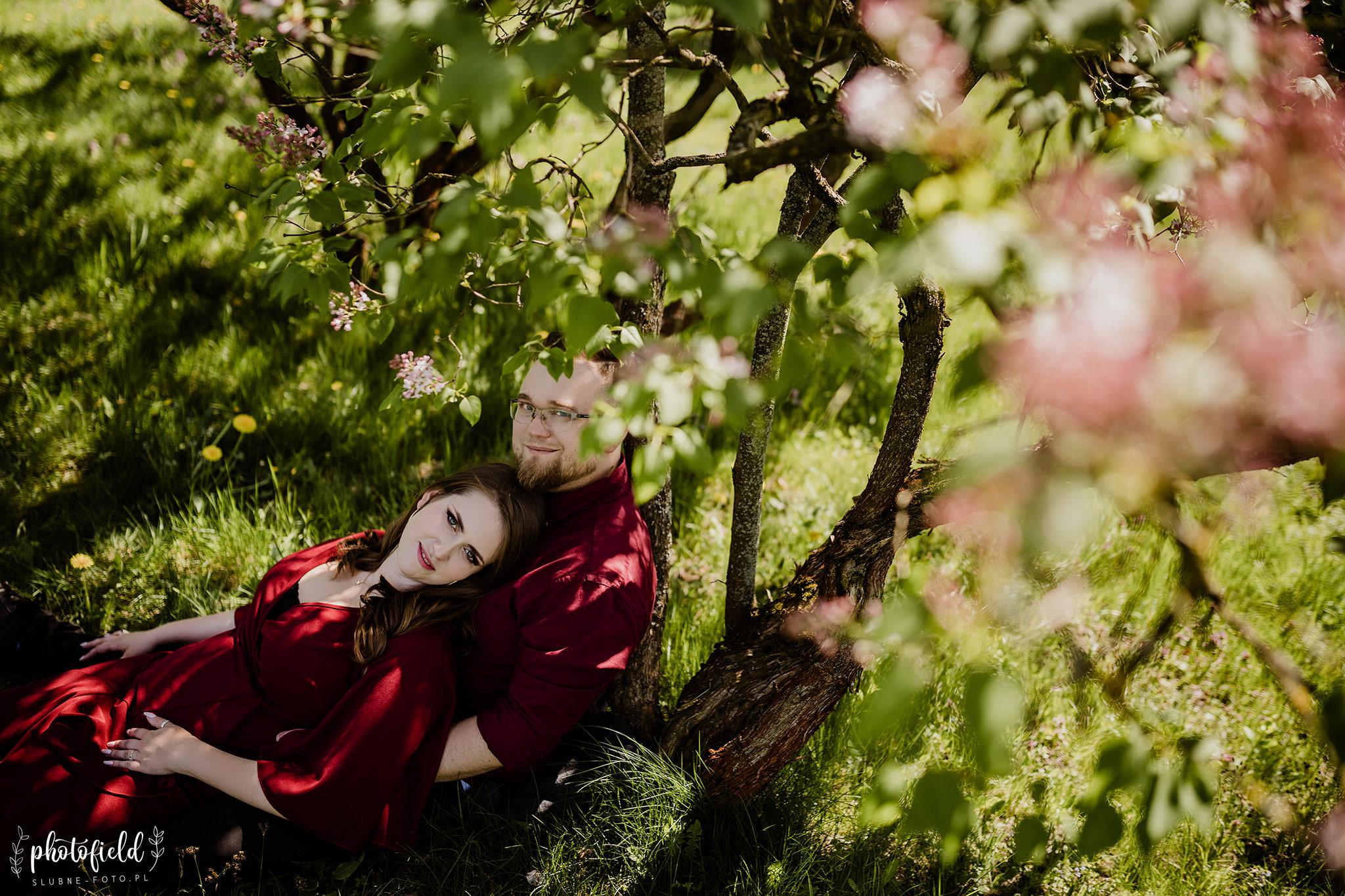 Wiosenna sesja zaręczynowa Oli i Krzysztofa